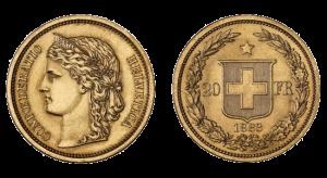 marengo svizzero - 20 franchi 1883 confederazione