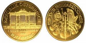 filarmonica di vienna oro 100 euro