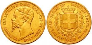 marengo oro italiano 20 lire