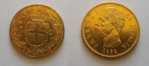 marengo oro Umberto I 1882