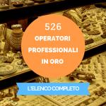 operatori professionali in oro elenco
