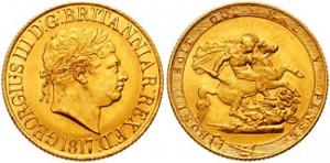 sterlina oro giorgio iii 1817