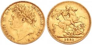 sterlina oro giorgio iv 1821