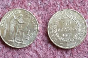 marengo francia 20 franchi 1897 terza repubblica