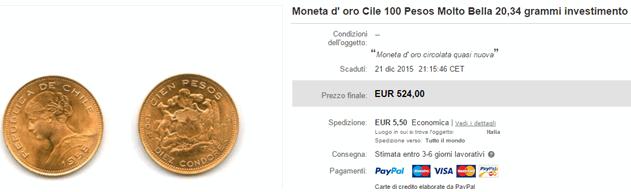 100 pesos cile ebay