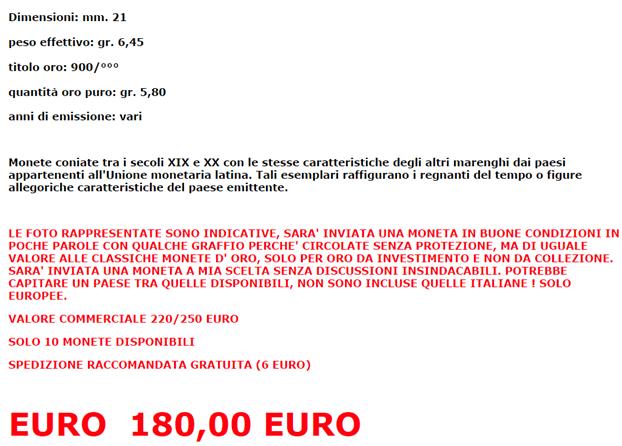 comprare oro su ebay annuncio