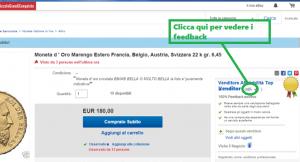 comprare monete d'oro su ebay