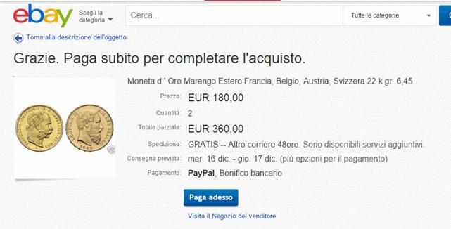 conferma pagamento ebay