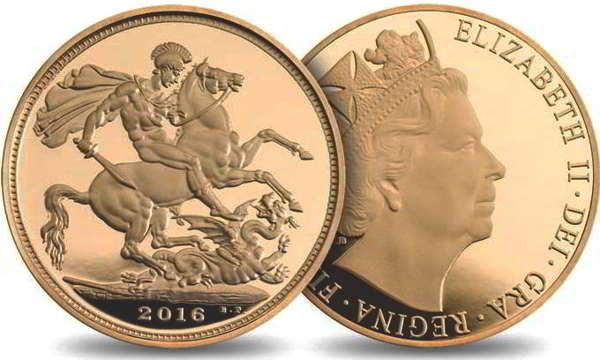 sterlina oro 2016 - dritto e rovescio