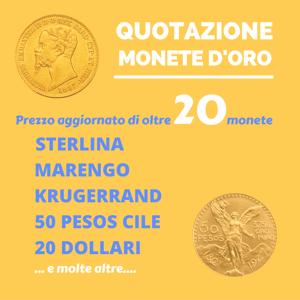 quotazione monete oro