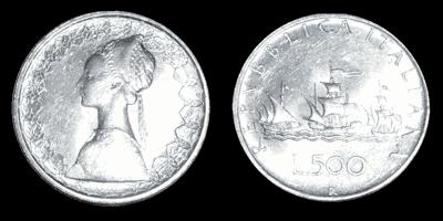 quotazione argento - 500 lire AG