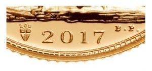 dettaglio sterlina oro 2017 scudo